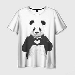 Мужская футболка Panda Love