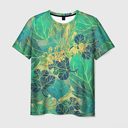 Мужская футболка Узор из листьев