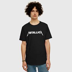 Футболка оверсайз мужская Metallica цвета черный — фото 2
