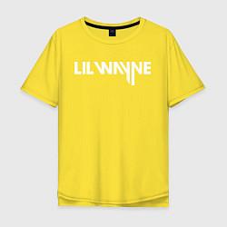 Футболка оверсайз мужская Lil Wayne цвета желтый — фото 1