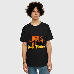 Футболка оверсайз мужская Pulp Fiction цвета черный — фото 2