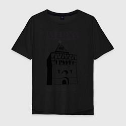 Мужская удлиненная футболка с принтом Нижний Новгород, цвет: черный, артикул: 10128861205753 — фото 1