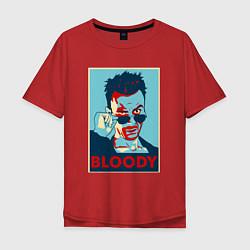 Футболка оверсайз мужская Bloody Poster цвета красный — фото 1
