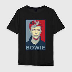Футболка оверсайз мужская Bowie Poster цвета черный — фото 1