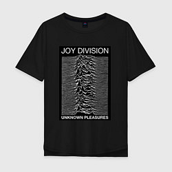 Футболка оверсайз мужская Joy Division: Unknown Pleasures цвета черный — фото 1