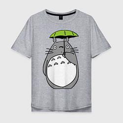 Футболка длинная мужская Totoro с зонтом - фото 1