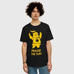 Футболка оверсайз мужская Praise the Sun цвета черный — фото 2
