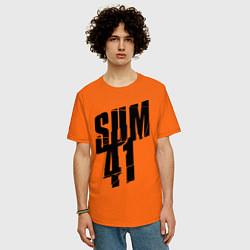 Футболка оверсайз мужская Sum Forty One цвета оранжевый — фото 2