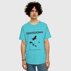 Футболка оверсайз мужская Shinedown: Sound of Madness цвета бирюзовый — фото 2