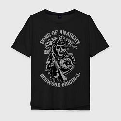 Футболка оверсайз мужская Sons of Anarchy: Redwood Original цвета черный — фото 1