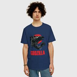 Футболка длинная мужская Godzilla: Red Sun - фото 2