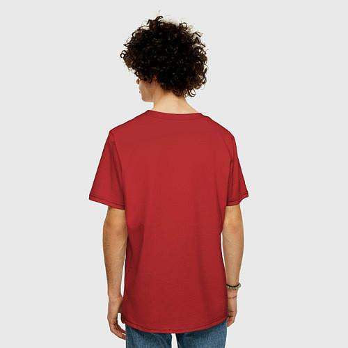 Мужская футболка оверсайз Made in 1994 / Красный – фото 4