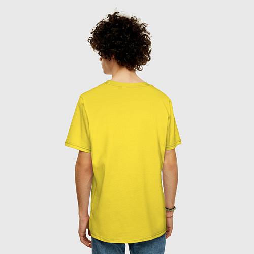 Мужская футболка оверсайз Да, я с ней / Желтый – фото 4