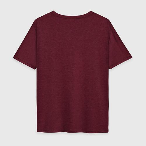 Мужская футболка оверсайз The Beatles Revolution / Меланж-бордовый – фото 2