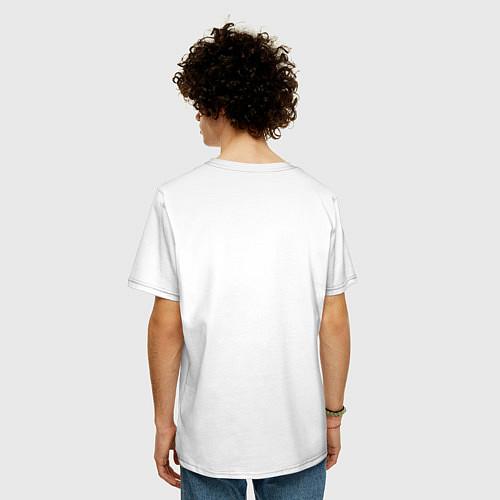 Мужская футболка оверсайз Love peace the Beatles / Белый – фото 4
