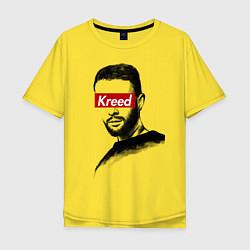 Футболка оверсайз мужская Kreed Supreme цвета желтый — фото 1