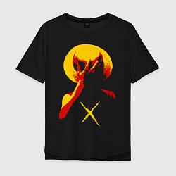 Мужская удлиненная футболка с принтом Going to new world, цвет: черный, артикул: 10163605705753 — фото 1