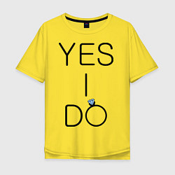 Футболка оверсайз мужская Yes I Do цвета желтый — фото 1