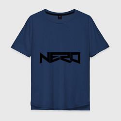Футболка оверсайз мужская Nero цвета тёмно-синий — фото 1
