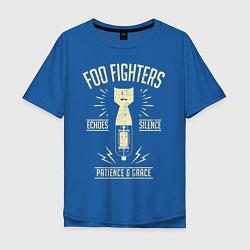 Футболка оверсайз мужская Foo Fighters: Patience & Grace цвета синий — фото 1