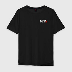 Футболка оверсайз мужская Mass Effect N7 цвета черный — фото 1