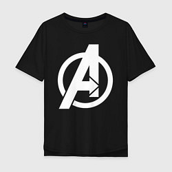 Футболка оверсайз мужская Avengers Symbol цвета черный — фото 1
