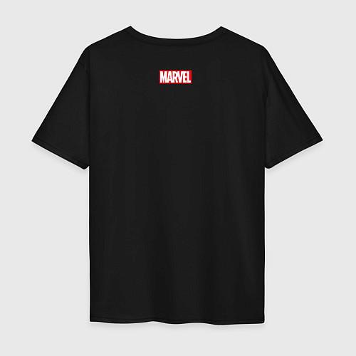 Мужская футболка оверсайз Sppider-Man / Черный – фото 2
