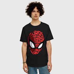 Футболка оверсайз мужская Spider-Man цвета черный — фото 2
