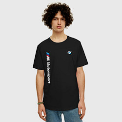 Футболка оверсайз мужская БМВ Мотоспорт цвета черный — фото 2