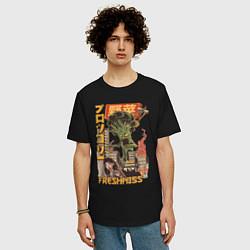 Футболка оверсайз мужская Broccozilla цвета черный — фото 2