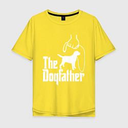 Футболка оверсайз мужская The Dogfather - пародия цвета желтый — фото 1