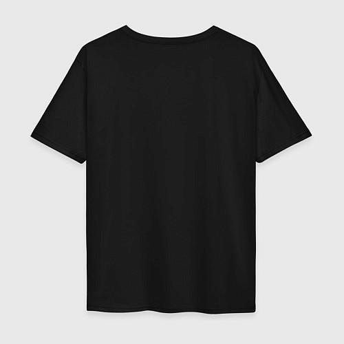 Мужская футболка оверсайз Выживший / Черный – фото 2