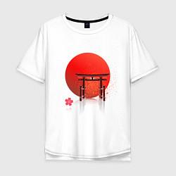 Футболка оверсайз мужская Япония цвета белый — фото 1