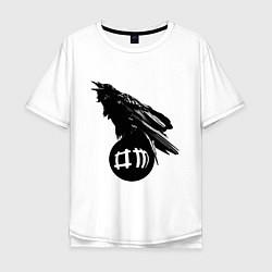 Футболка оверсайз мужская DM Raven цвета белый — фото 1