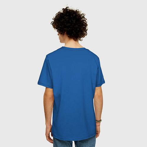 Мужская футболка оверсайз Mathematica (Математика) / Синий – фото 4
