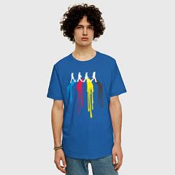Футболка оверсайз мужская Abbey Road Colors цвета синий — фото 2