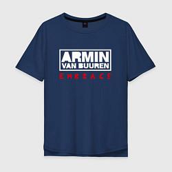 Мужская удлиненная футболка с принтом Armin van Buuren: Embrace, цвет: тёмно-синий, артикул: 10074442105753 — фото 1