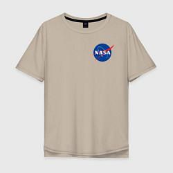 Футболка оверсайз мужская NASA цвета миндальный — фото 1