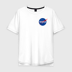 Футболка оверсайз мужская NASA цвета белый — фото 1
