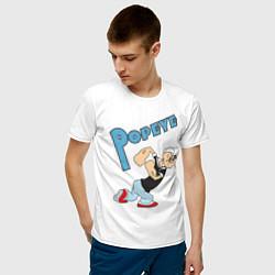 Футболка хлопковая мужская Popeye цвета белый — фото 2