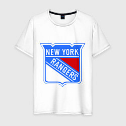 Футболка хлопковая мужская New York Rangers цвета белый — фото 1