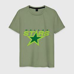 Футболка хлопковая мужская Dallas Stars цвета авокадо — фото 1