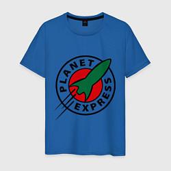 Футболка хлопковая мужская Planet Express цвета синий — фото 1