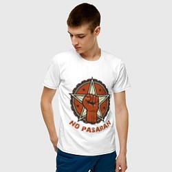 Футболка хлопковая мужская No Pasaran цвета белый — фото 2