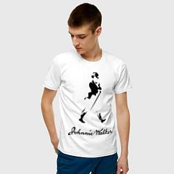 Футболка хлопковая мужская Johnnie Walker цвета белый — фото 2