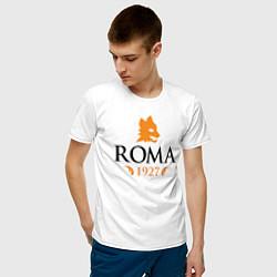 Футболка хлопковая мужская AS Roma 1927 цвета белый — фото 2
