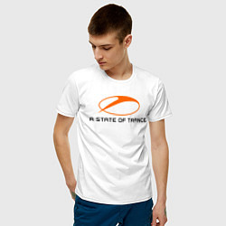 Мужская хлопковая футболка с принтом A State of Trance, цвет: белый, артикул: 10011042200001 — фото 2
