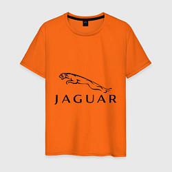 Футболка хлопковая мужская Jaguar цвета оранжевый — фото 1