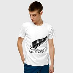 Футболка хлопковая мужская New Zeland: All blacks цвета белый — фото 2