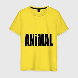 Футболка хлопковая мужская Animal цвета желтый — фото 1